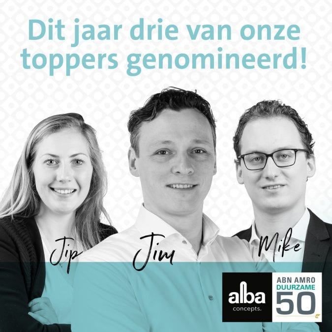 Drie van onze toppers genomineerd voor Duurzame 50